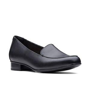NEW Clarks Juliet Lora black leather loafer